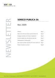NEW SLETTER - Soreco Publica AG