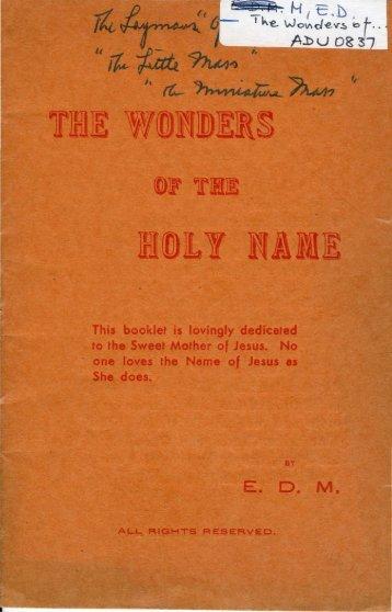Holy Name.