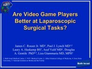 Are Video Game Players Better at Laparoscopic Surgery?