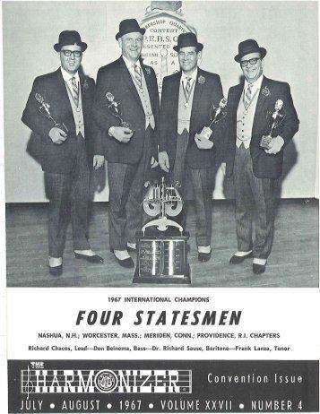 July 1967, Vol. 27 No. 4 - Barbershop Harmony Society