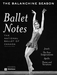Balanchine Ballet Notes - The National Ballet of Canada