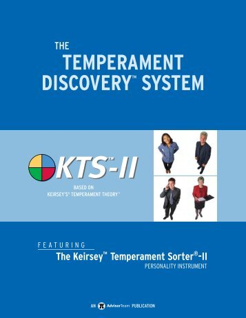 the keirsey temperament sorter 2 results