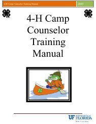 4-H Camp Counselor Training Manual - Taylor County Extension