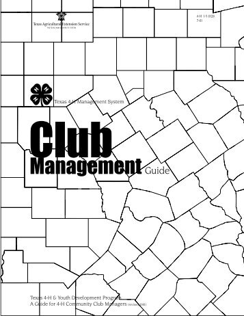 4-H Club Management Guide - Texas AgriLife Extension Service