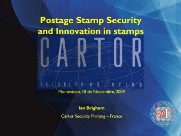 Postage Stamp Security and Innovation in stamps - UPAEP