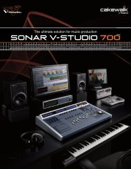 A new era in music production begins with SONAR V-STUDIO 700