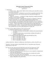 Informative Speech Preparation Outline The Four Temperament ...