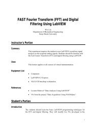 FAST Fourier Transform (FFT) - Department of Biomedical ...