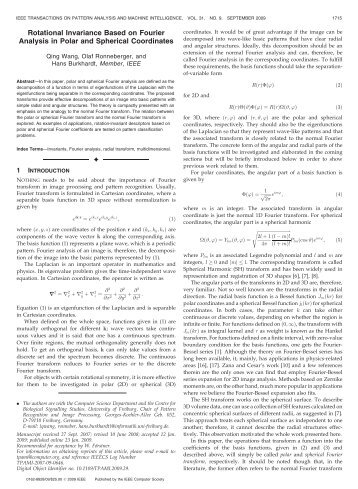 Rotational Invariance Based on Fourier Analysis in Polar and ...