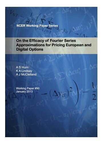 On the Efficacy of Fourier Series Approximations for Pricing ...