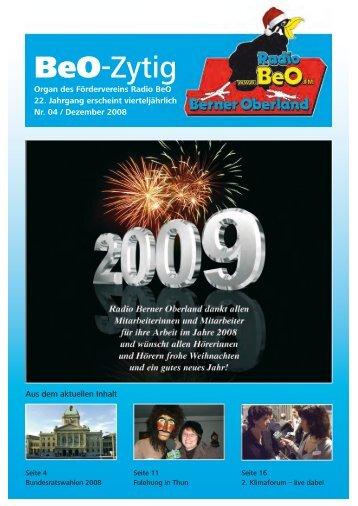 Ausgabe 4 /2008 - Radio BeO
