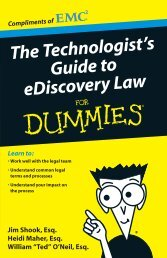 The Technologist's Guide to ediscovery Law For Dummies / The ...