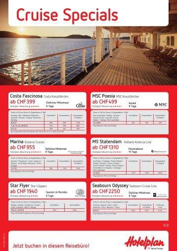 Cruise Specials - Reisebüro Menziken AG