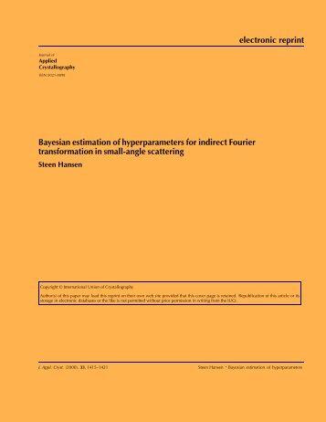 electronic reprint Bayesian estimation of ... - BayesApp.org