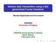 Seismic data interpolation using a fast generalized Fourier transform