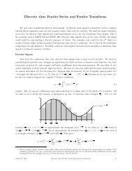 Discrete–time Fourier Series and Fourier Transforms - UBC Math