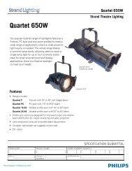 Quartet 650W - Strand Lighting
