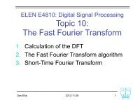 The Fast Fourier Transform; Short-time Fourier transform