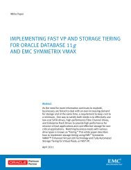 Implementing FAST VP and Storage Tiering for Oracle Database ...