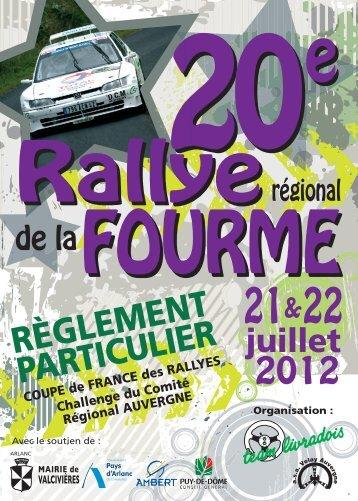 reglement - Rallye Régional de la Fourme