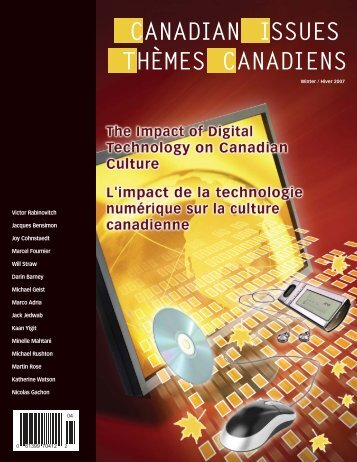 The Impact of Digital Technology on Canadian Culture - CARFAC ...