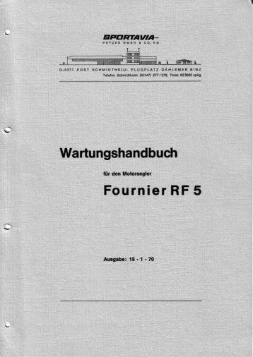 Wartungshandbuch Fournier RF 5