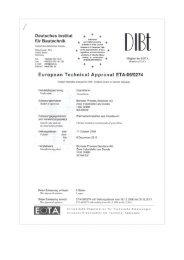 European Technical Approval ETA (PDF) - gramitech.ch