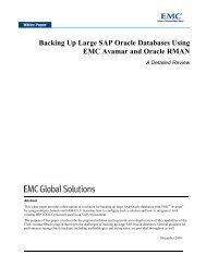 Backing Up Large SAP Oracle Databases Using EMC Avamar and ...