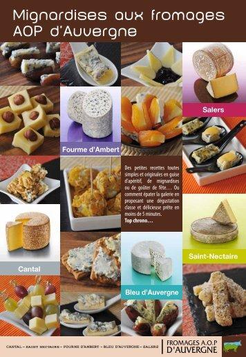 Mignardises aux fromages AOP d'Auvergne