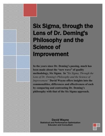Deming's 14-Point Philosophy