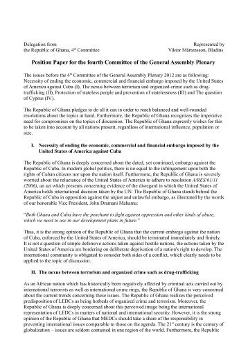 position paper general assembly first committee General assembly actions and position papers of the presbyterian church in america: ad interim study committee on women in the military.