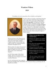 Woodrow Wilson 1919 - The Nobel Peace Laureate Project