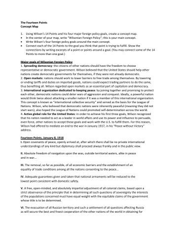 rhetorical analysis for woodrow wilson fourteen points Nobel prize acceptance speech:  thomas woodrow wilson: the fourteen points : pdf: 41: margaret chase smith:  thomas woodrow wilson:.