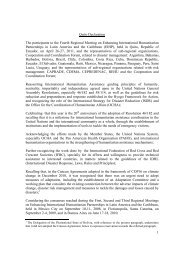 Quito Declaration, 2011. - International Federation of Red Cross and ...