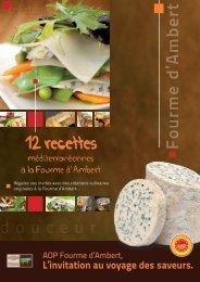 Livret de recette - Fourme d'Ambert