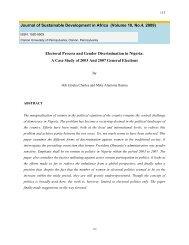 Electoral Process and Gender Discrimination in Nigeria: A Case ...