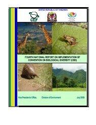 CBD Fourth National Report - United Republic of Tanzania (English ...