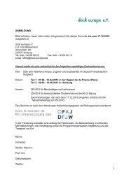 ANMELDUNG Bitte schicken, faxen oder mailen ... - dock europe eV