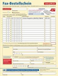 Fax-Bestellschein - Pollin