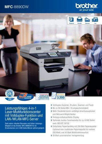 Brother MFC-8890DW - Drucker - Fax