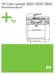 HP Color LaserJet 2820/2830/2840 all-in-one User Guide - DEWW