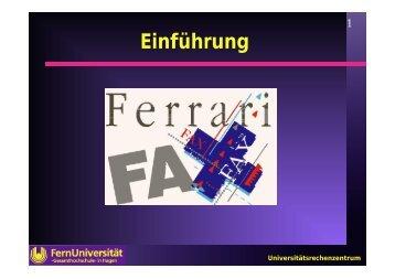 Einführung in Ferrari-Fax