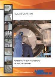 Kompetenz in der Verarbeitung technischer Textilien - Lanz Anliker