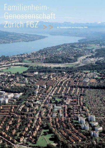 Jahresbericht 2008 - Familienheim-Genossenschaft Zürich