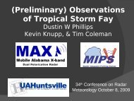 Observations of Tropical Storm Fay Dustin Phillips, Kevin ... - nsstc