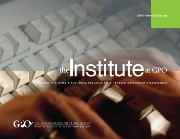 2010 Course Catalog - U.S. Government Printing Office
