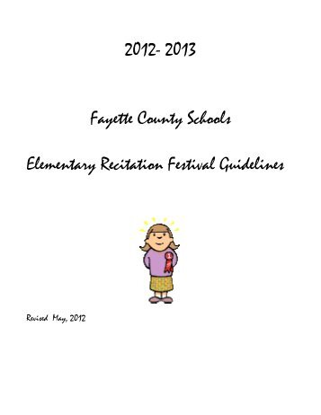 2012-13 K-5 Recitation Guidelines - Fayette County Schools