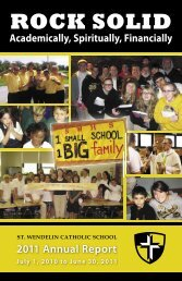 SW Annual Report 2010 - St. Wendelin Catholic Parish and Schools