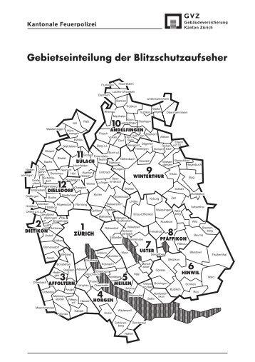 Gebietseinteilung der Blitzschutzaufseher - Bauspenglerei Lobnik AG