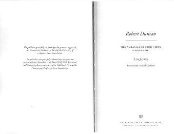 Robert Duncan - Duke University
